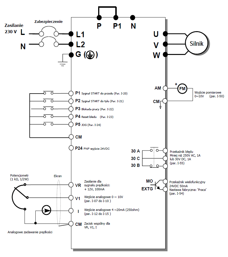 LG iC5 - schemat falownika