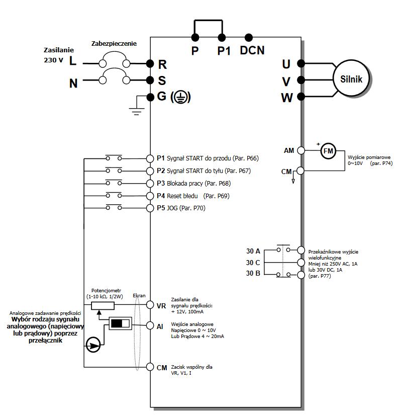 LG iE5 - schemat falownika