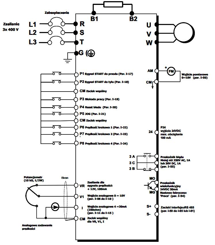 LG iG5a - schemat falownika